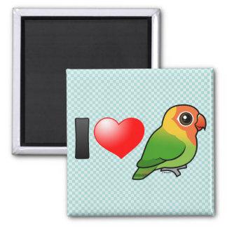 I Love Lilian's Lovebirds 2 Inch Square Magnet