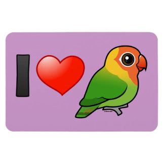 I Love Lilian's Lovebirds Rectangular Photo Magnet