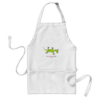 I Love Lilly Lizard Adult Apron