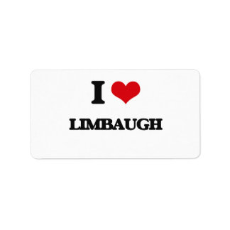 I Love Limbaugh Address Label