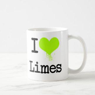 I Love Limes Classic White Coffee Mug