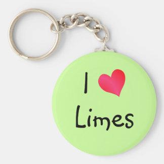 I Love Limes Key Chain