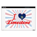 I Love Limestone, Maine Skins For Laptops