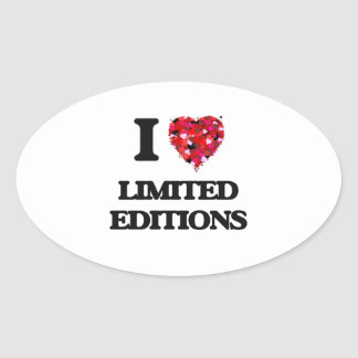 I Love Limited Editions Oval Sticker