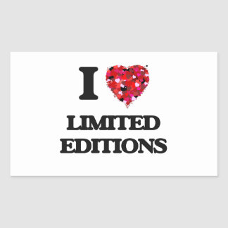 I Love Limited Editions Rectangular Sticker
