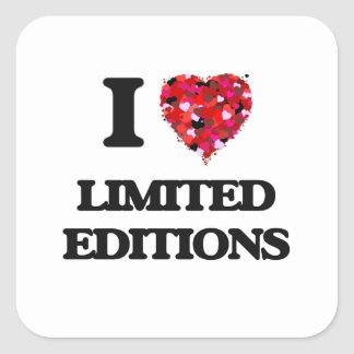 I Love Limited Editions Square Sticker