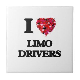 I Love Limo Drivers Small Square Tile