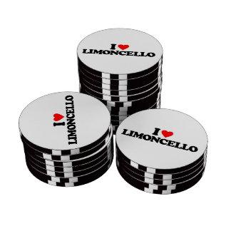 I LOVE LIMONCELLO POKER CHIPS