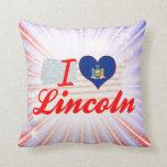 I Love Lincoln, New York Pillows