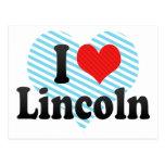I Love Lincoln Postcard