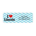 I Love Lincoln Return Address Label