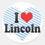 I Love Lincoln Stickers