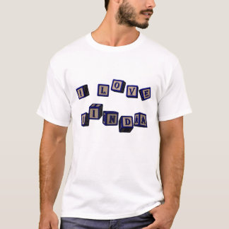 I love Linda toy blocks in blue. T-Shirt