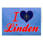I Love Linden, Indiana Greeting Card