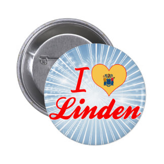 I Love Linden New Jersey Pin