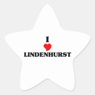 I love Lindenhurst Star Sticker