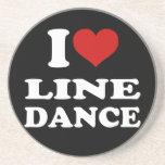 I Love Line Dance Beverage Coaster