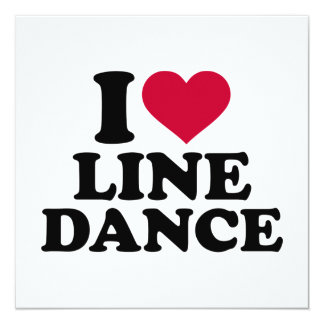 I love line dance card