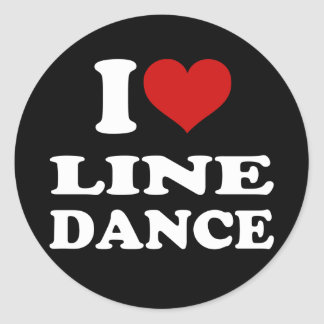 I Love Line Dance Classic Round Sticker