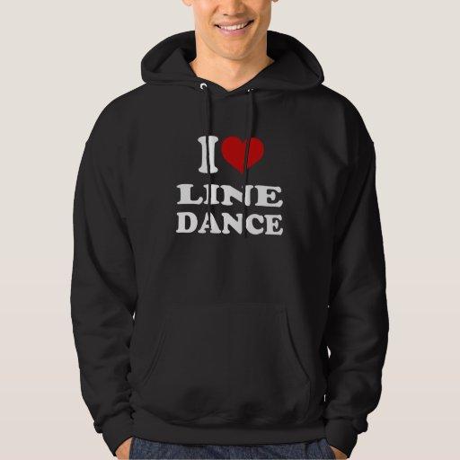 I Love Line Dance Hooded Sweatshirt