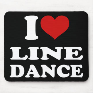 I Love Line Dance Mouse Pad