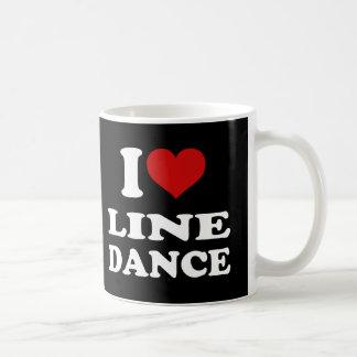 I Love Line Dance Classic White Coffee Mug