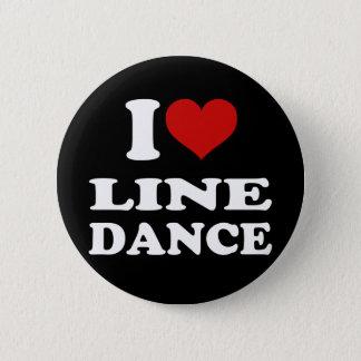 I Love Line Dance Pinback Button