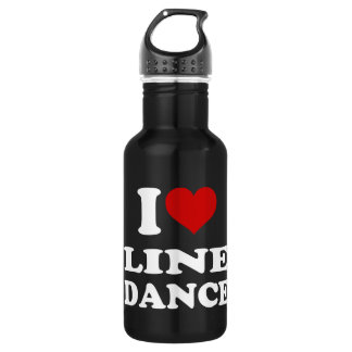 I Love Line Dance Stainless Steel Water Bottle