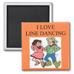 i love line dancing 2 inch square magnet