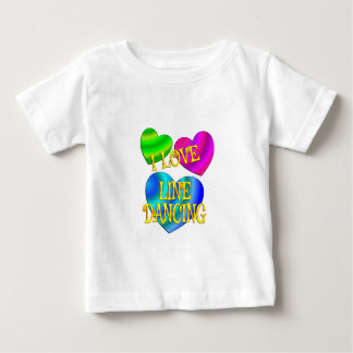 I Love Line Dancing Baby T-Shirt