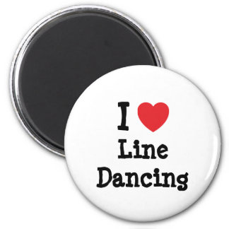 I love Line Dancing heart custom personalized 2 Inch Round Magnet