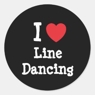 I love Line Dancing heart custom personalized Classic Round Sticker