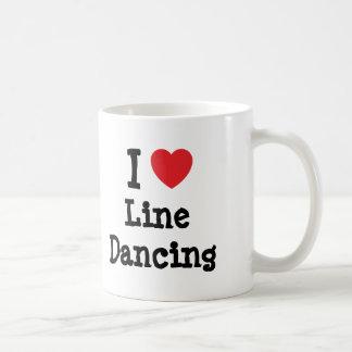 I love Line Dancing heart custom personalized Coffee Mug