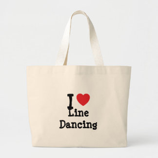 I love Line Dancing heart custom personalized Large Tote Bag