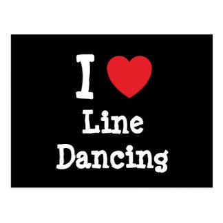 I love Line Dancing heart custom personalized Postcard
