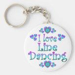 I Love Line Dancing Key Chain
