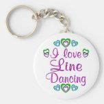 I Love Line Dancing Key Chains
