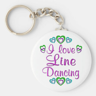 I Love Line Dancing Keychain