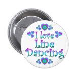 I Love Line Dancing Pinback Button