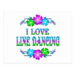 I LOVE LINE DANCING POSTCARD