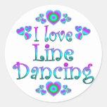 I Love Line Dancing Round Sticker