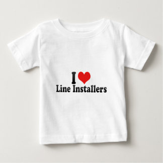 I Love Line Installers T-shirts