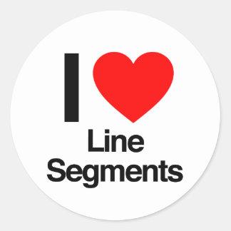 i love line segments stickers