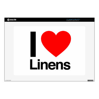 i love linens laptop decal