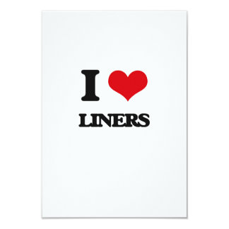 I Love Liners Customized Invitation Card