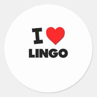I Love Lingo Classic Round Sticker
