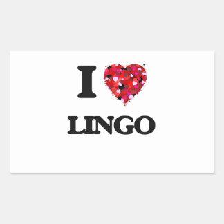 I Love Lingo Rectangular Sticker