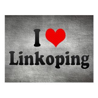 I Love Linkoping, Sweden Postcard