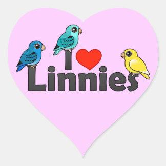 I Love Linnies Heart Sticker
