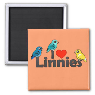 I Love Linnies 2 Inch Square Magnet